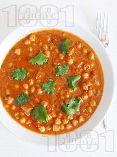Нахут с домати по индийски - снимка на рецептата